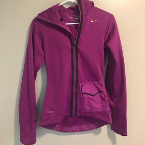 Nike Therma- Fit Purple Zip Up Hoodie Size XS